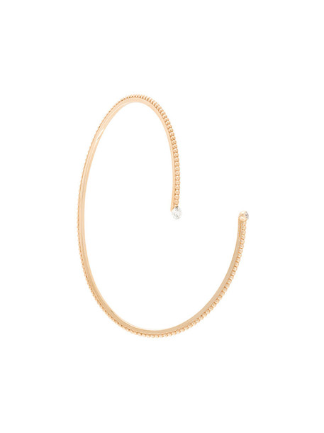 Sarlane open rose gold rose women gold grey metallic jewels