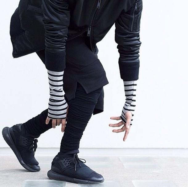 shoes y-3 black black sneakers