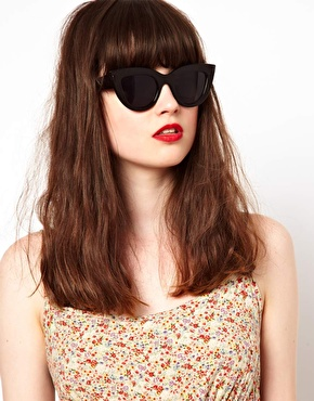 ASOS | ASOS Flat Top Cat Eye Sunglasses at ASOS