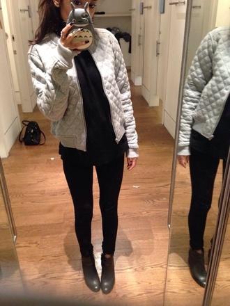 jacket white faux american apparel coat