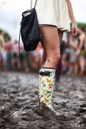 shoes,cute,wellies,bag,festival,hunter boots,girly wishlist,black,leather,chain,pattern