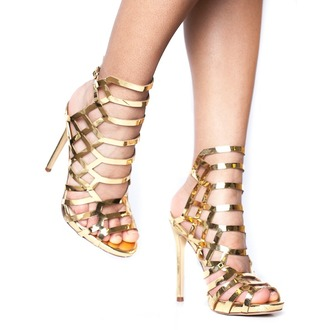 shoes heels metallic metallic shoes metallic heels gold gold heels gold shoes lattice heels