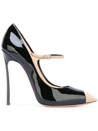 heel women pumps leather suede black shoes