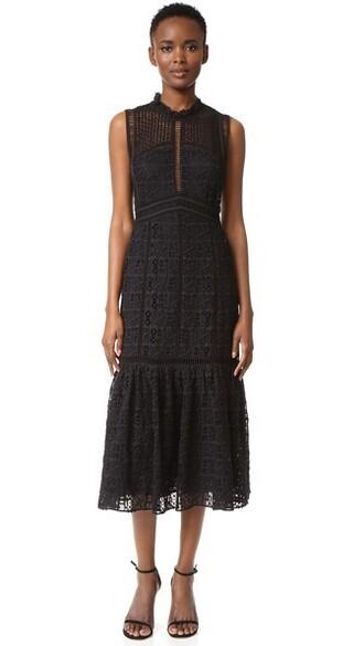 dress crochet dress sleeveless lace black crochet