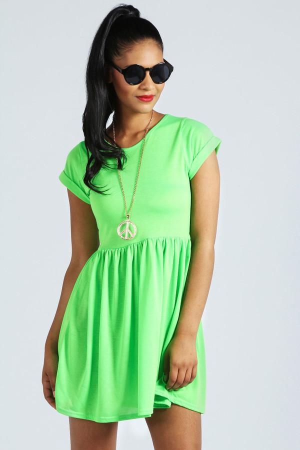 dress neon green neon green green dress