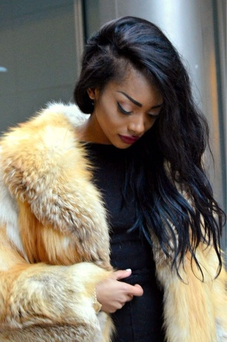 coat fur vest faux fur coat