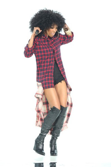 blouse flannel shirt brandy hip hop awards flannel top