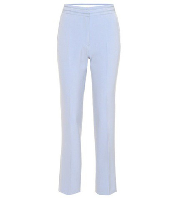 Victoria Victoria Beckham Wool-blend trousers in blue