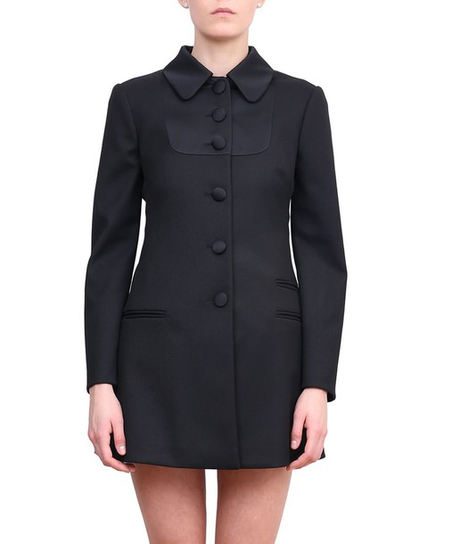 RED VALENTINO coat wool coat wool satin