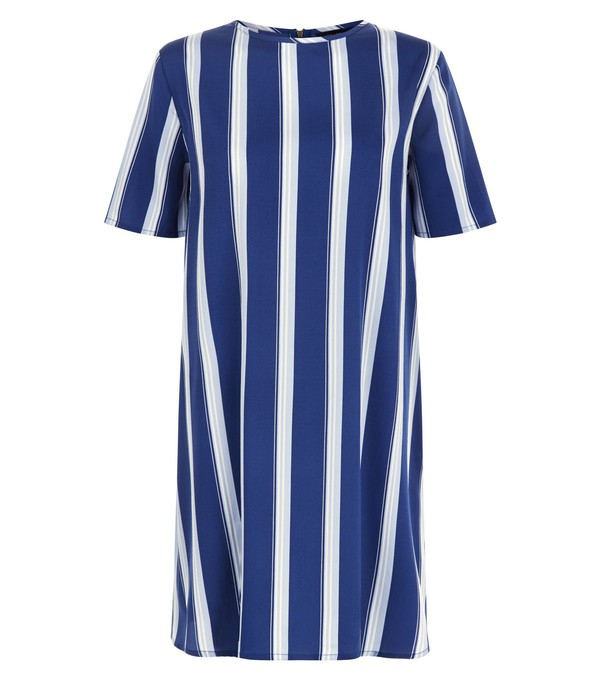 dress striped dress t-shirt dress blue and white