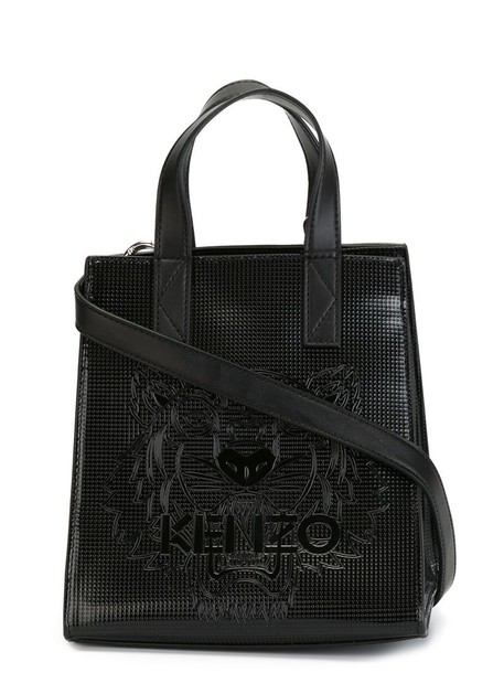 Kenzo - 'Tiger' tote - women - Calf Leather/Polyurethane - One Size, Black, Calf Leather/Polyurethane