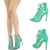 Sea Green Open Toe Lace Up Strappy Cutout Gladiator Stiletto Heel Pump Sandal US | eBay