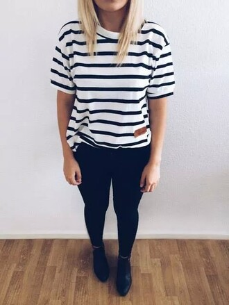 t-shirt mariniere sailor striped top