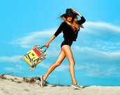 the glamourai,hat,jacket,t-shirt,shorts,bag,shoes