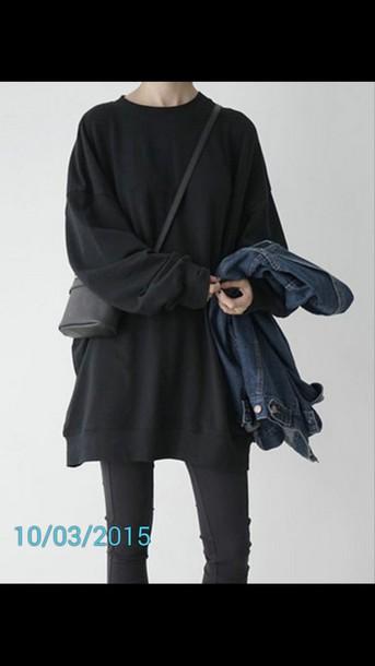 sweater black grunge