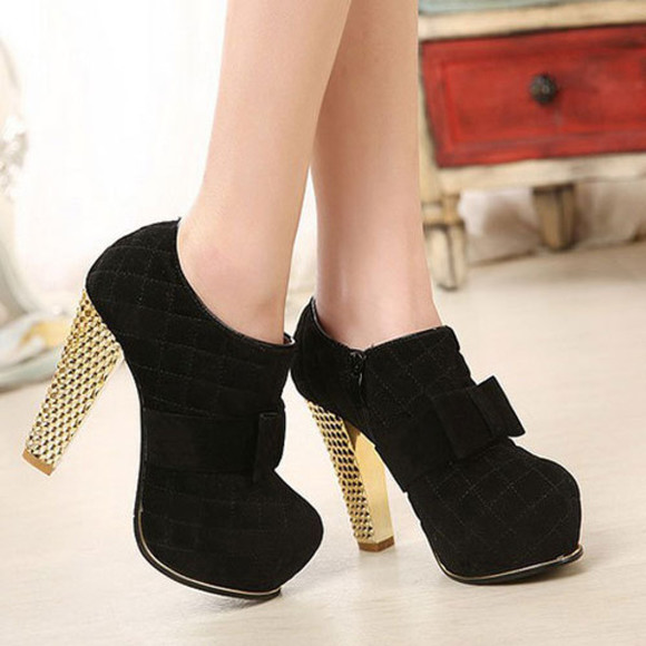 shoes fashion shoe high heel boot black shoe