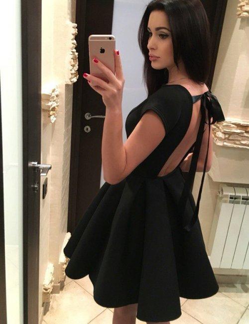 Women's Babe Cute Backless Dress