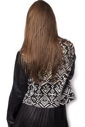 jacket,leather jacket,leather,black,white,aztec,aztec print coat,aztec jacket,short coat,winter outfits,fall outfits