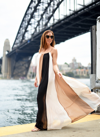 sydne summer's fashion reviews & style tips blogger dress sunglasses jewels shoes maxi dress sandals summer dress