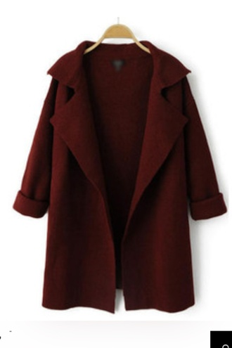 cardigan red winter autumn whine red winter sweater