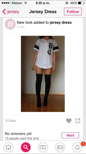 shirt stripes baseball tee dress t-shirt