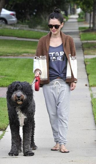 top cardigan rachel bilson sweatpants fall outfits