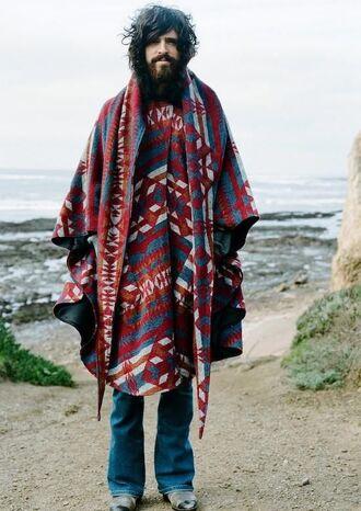 sweater poncho menswear mens sweater cape ponchos poncho sweater poncho outwear poncho scarf 'boho boho style