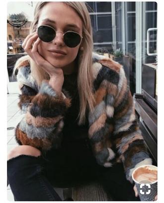 coat sweater jacket fur