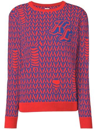 jumper women red sweater