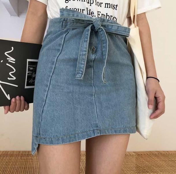 skirt girly denim denim skirt