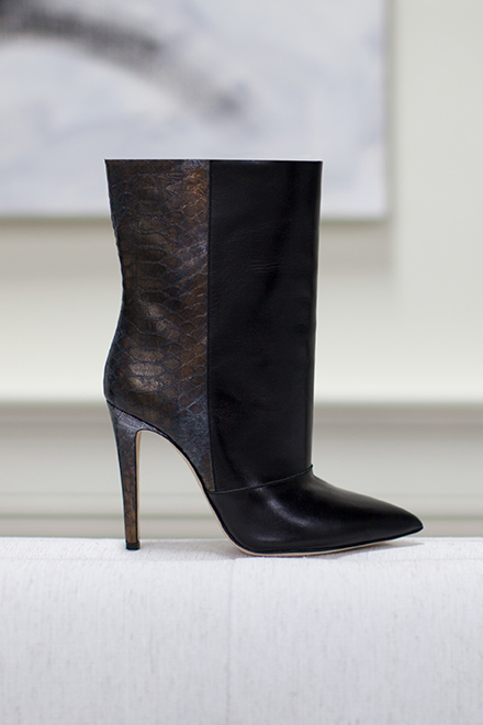 Midi Boot - Leather and Snake | Emerson Fry