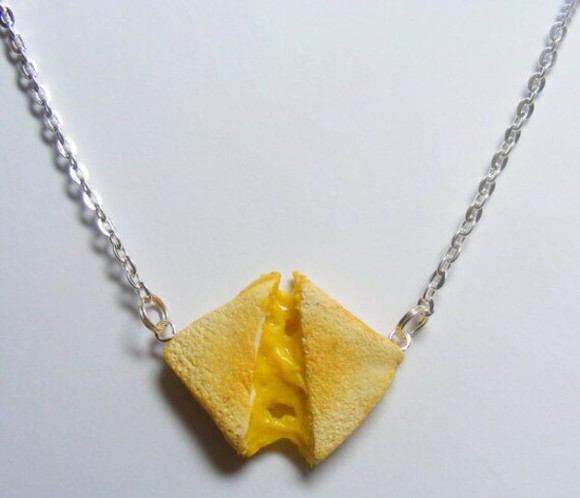 food jewels grilled cheese necklace