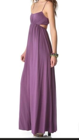 dress maxi prom purple cut-out maxi prom dress cut-out dress cut out maxi dress floor length dress long dress maxi dress prom dress
