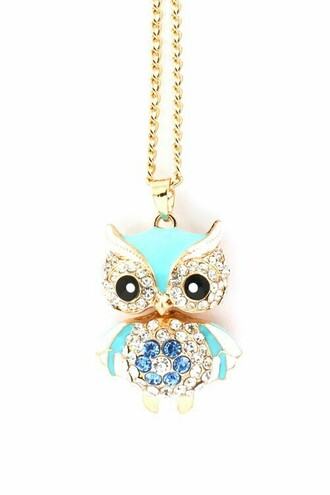 jewels necklace owl cute