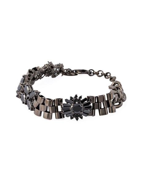 IOSSELLIANI women black grey metallic jewels