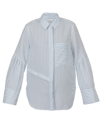 shirt pattern white blue top