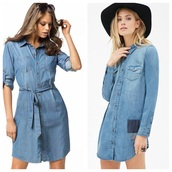 dress,denim dress@#h&m
