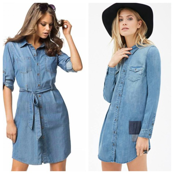 dress denim dress@#h&m