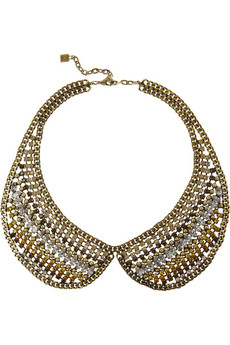 Stella gold-tone Swarovski crystal necklace  | THE OUTNET