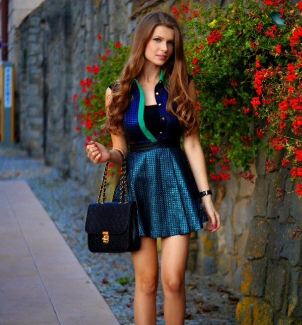 blue dress elegant dress streetstyle stylemoi dress summer outfits