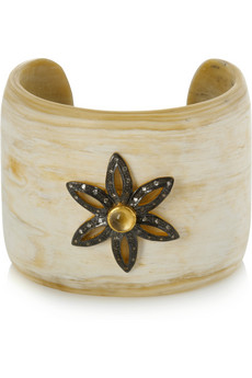 Kevia Horn and gold-plated cuff - 55% Off Now at THE OUTNET