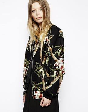 ASOS | ASOS Reclaimed Vintage Bomber Jacket In Hawaiian Print at ASOS
