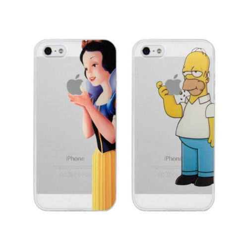 newest b4e4a 20b74 CASE COVER HOMER SIMPSON, SNOW WHITE EAT APPLE FOR IPHONE 5 5S 5C 4S 4  SCREEN