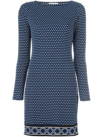 dress print dress women spandex geometric print blue