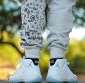 sweatpants,bandana print,retro11,jordans,jeans,menswear,mens sportswear,grey sweatpants,dope wishlist,pants,mens sweatpants