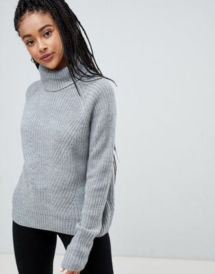 JDY Justy roll neck jumper at asos.com