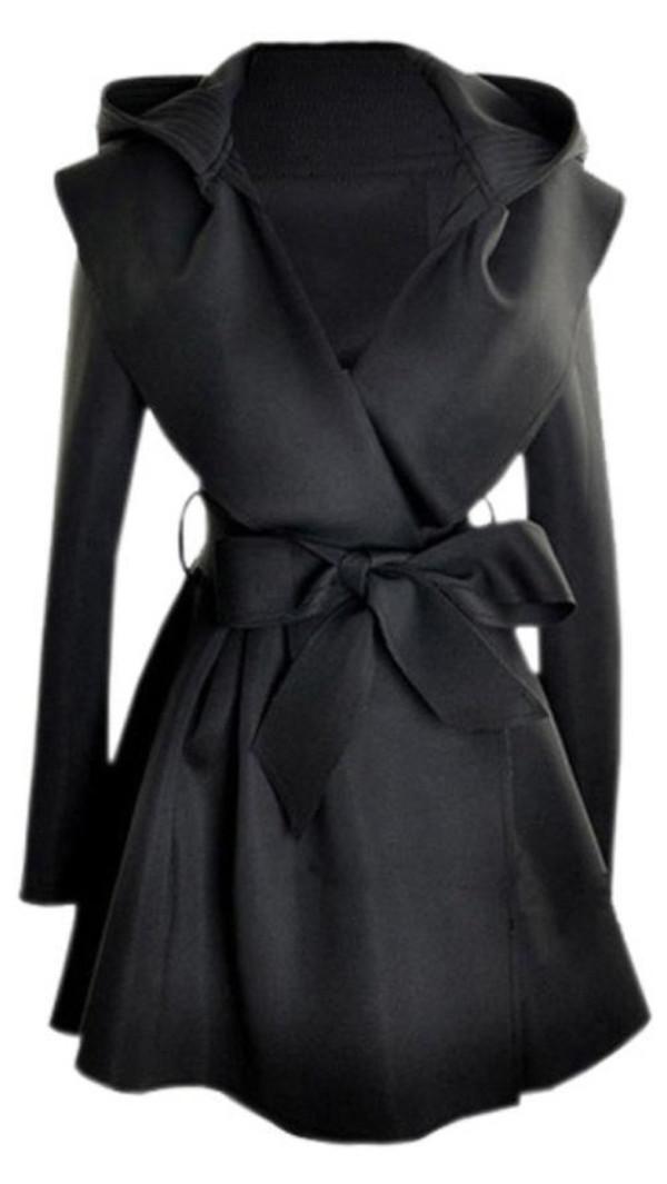 coat classy dressy black cashmere wool