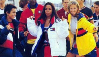 90s style aaliyah tommy hilfiger amazing black girls killin it