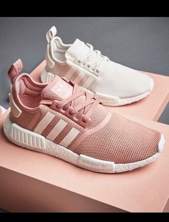 shoes pink adidas adidas shoes white sneakers trainers white girly pink shoes pale link adidas pink sneakers low top sneakers rose sneakers pastel instagram pastel sneakers rose gold adidas nmd running shoes salmon sports shoes pink addidas cute need  want adidas nmd r1 pink light pink pink adidas cute shoes sweater adidas pink adidas ultra boost gym shorts