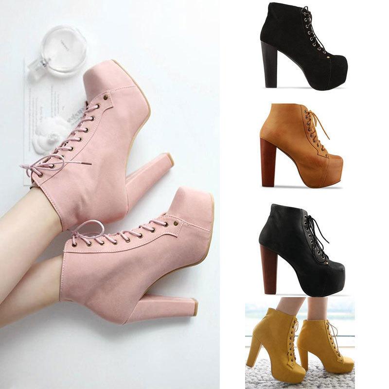 Новых женщин Узелок лодыжки Ботинки 6 Цвет Lita Платформы Высокие каблуки бесплатная доставка, принадлежащий категории Ботинки и относящийся к Обувь на сайте AliExpress.com